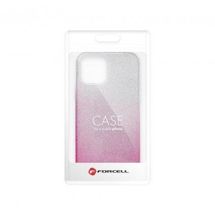 159374 3 pouzdro forcell shining apple iphone 12 mini transparent ruzove