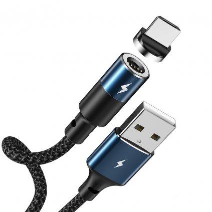 153467 remax kabel usb magneticky zigie micro 3a rc 102m cerny