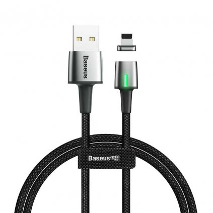164108 baseus kabel usb magneticky zinc pro iphone lightning 8 pin 1 5a 2 metry cerny calxc b01