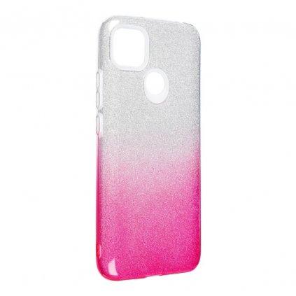 167342 3 pouzdro forcell shining xiaomi redmi 9c transparent ruzove