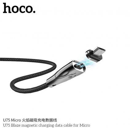 140798 3 kabel usb hoco mikro usb magneticky blaze u75 cerny