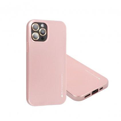 162719 3 pouzdro i jelly mercury goospery apple iphone 12 mini zlate ruzove