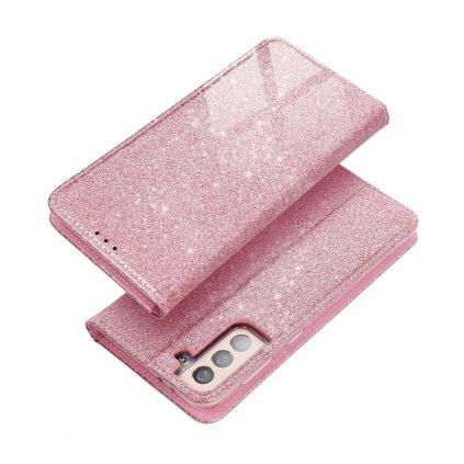172268 3 pouzdro forcell shining book xiaomi redmi note 9t 5g zlato ruzove