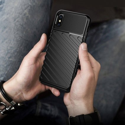 186240 3 pouzdro forcell thunder pro apple iphone xr cerne
