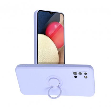 187110 2 pouzdro forcell silicone ring samsung galaxy a02s fialove