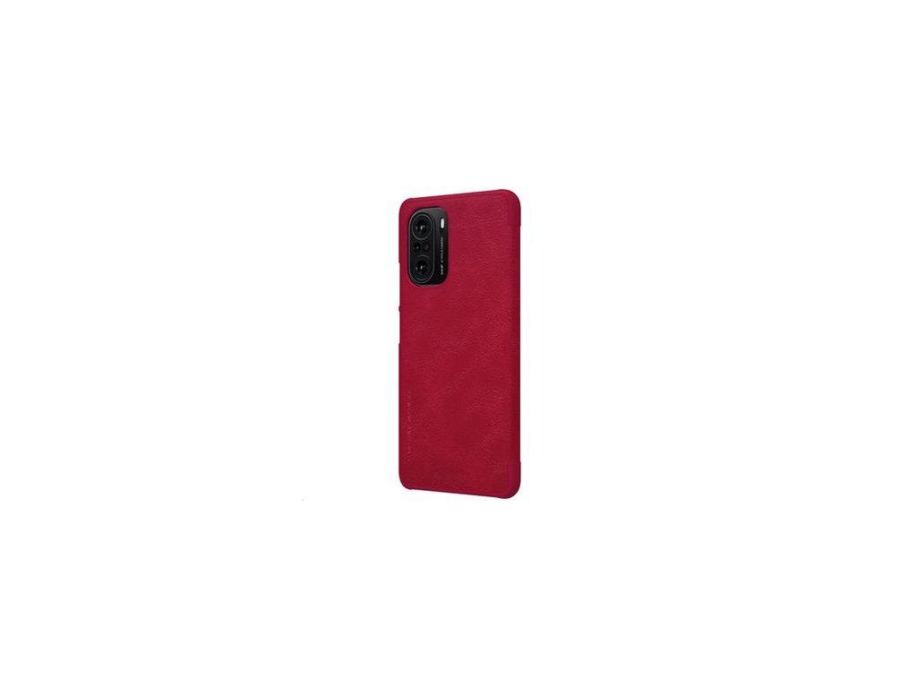 Nillkin Qin Book Pouzdro pro Xiaomi Poco F3 Red