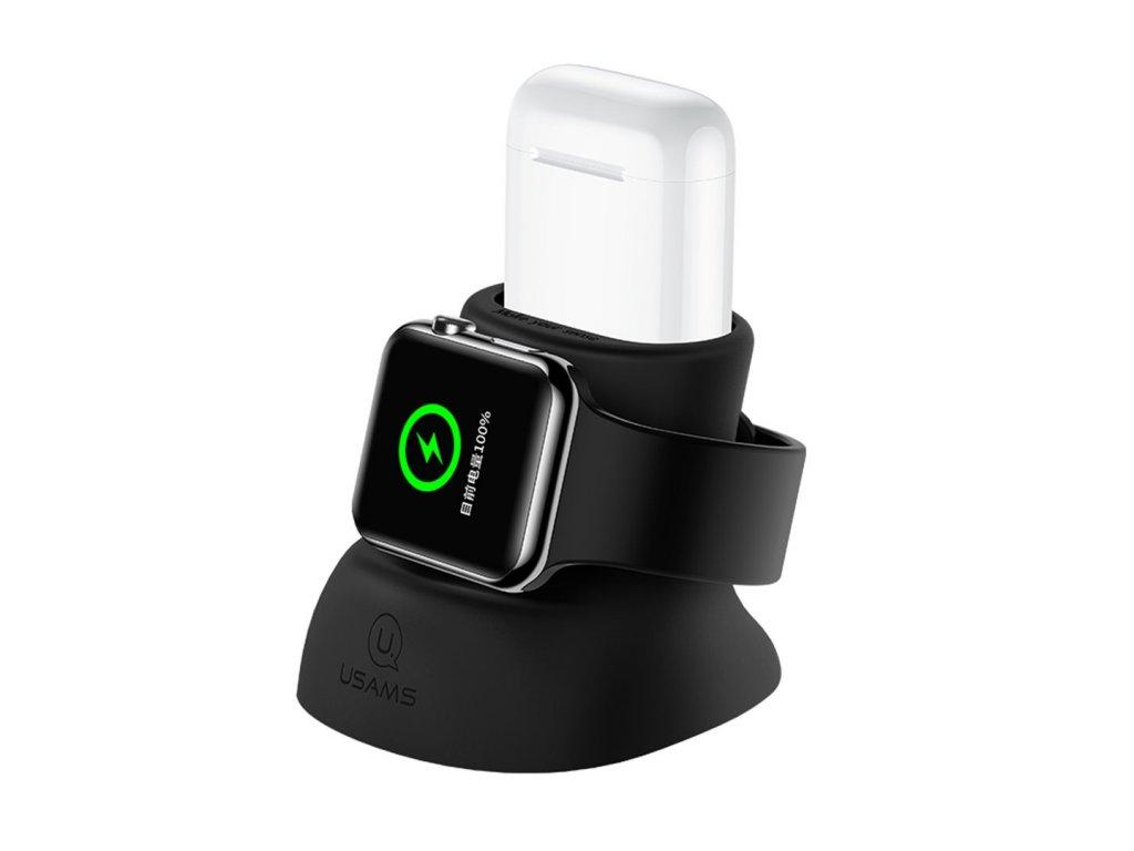 USAMS Nabíjací stojan pre Apple Watch a Airpods