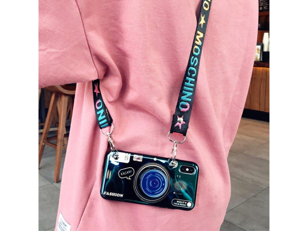 Púzdro Retro Camera Samsung A40