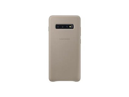 EF-VG975LJE Samsung Leather Cover Gray pro G975 Galaxy S10 Plus