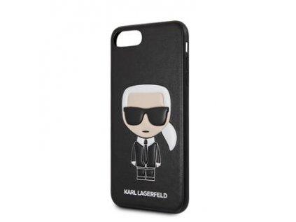 KLHCI8LIKPUBK Karl Lagerfeld Ikonik Kryt pro iPhone 7/8 Plus Black