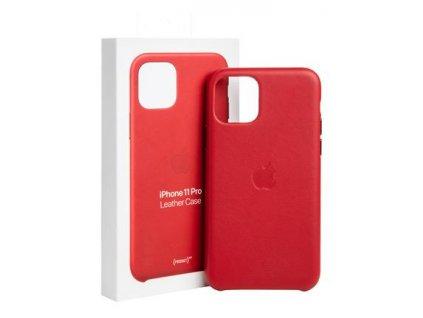 MWYF2ZM/A Apple Kožený Kryt pro iPhone 11 Pro Red