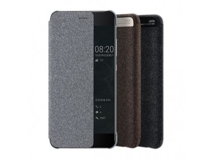Knižkové, flipové puzdro Huawei P10 Plus Vicky View, sivé