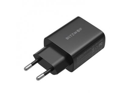 Blitzwolf BW-S19 Dualní Cestovní Nabíječka USB-C/USB-A QC3.0 20W Black