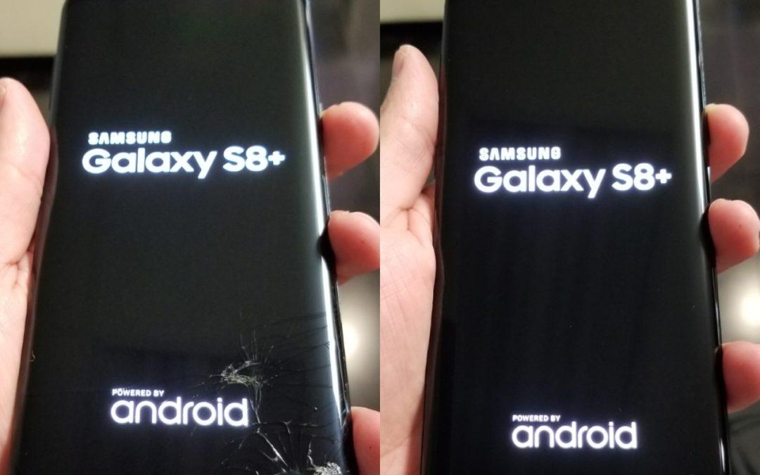 Prasklé sklo u Samsung Galaxy S8