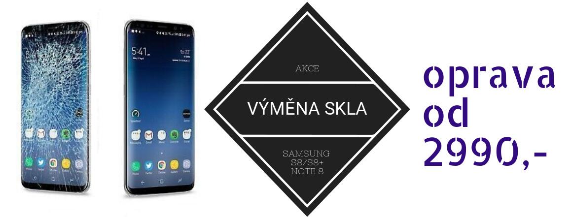 Výměn skla Samsung S8 a S8 plus