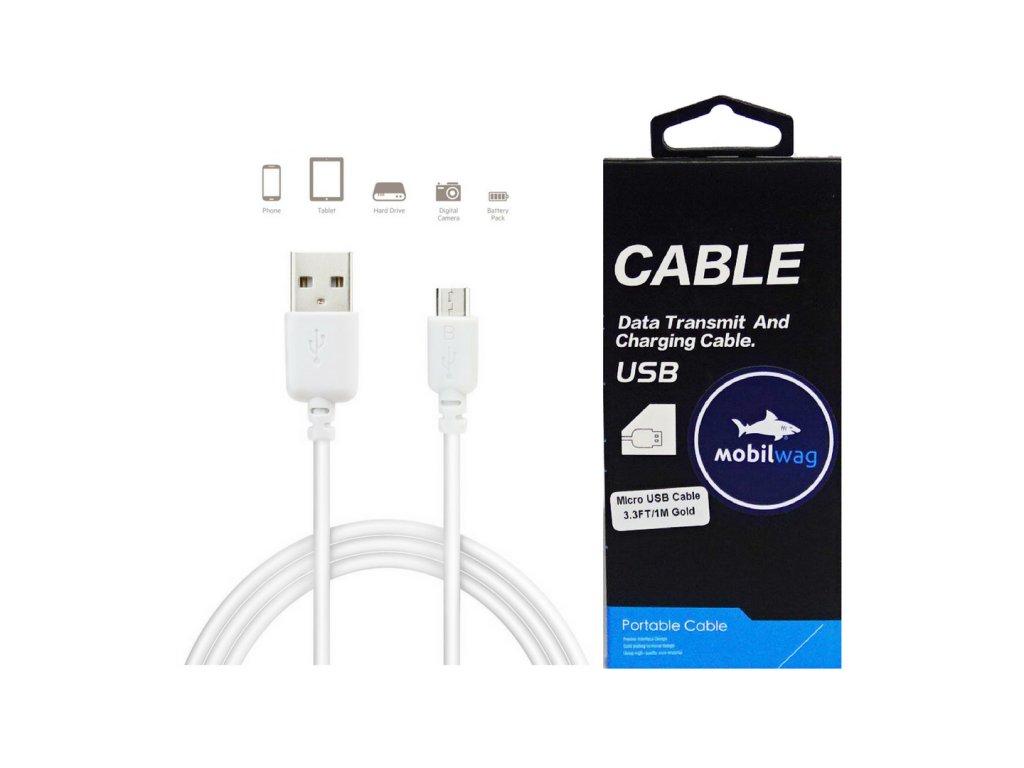 Datový a nabíjecí Micro USB kabel (Barva bílý)