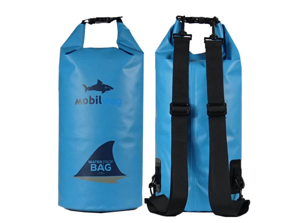 Vodotěsný mobilwag s popruhy barva světle modrý (Barva světle modrý, Velikost 15 litrů)
