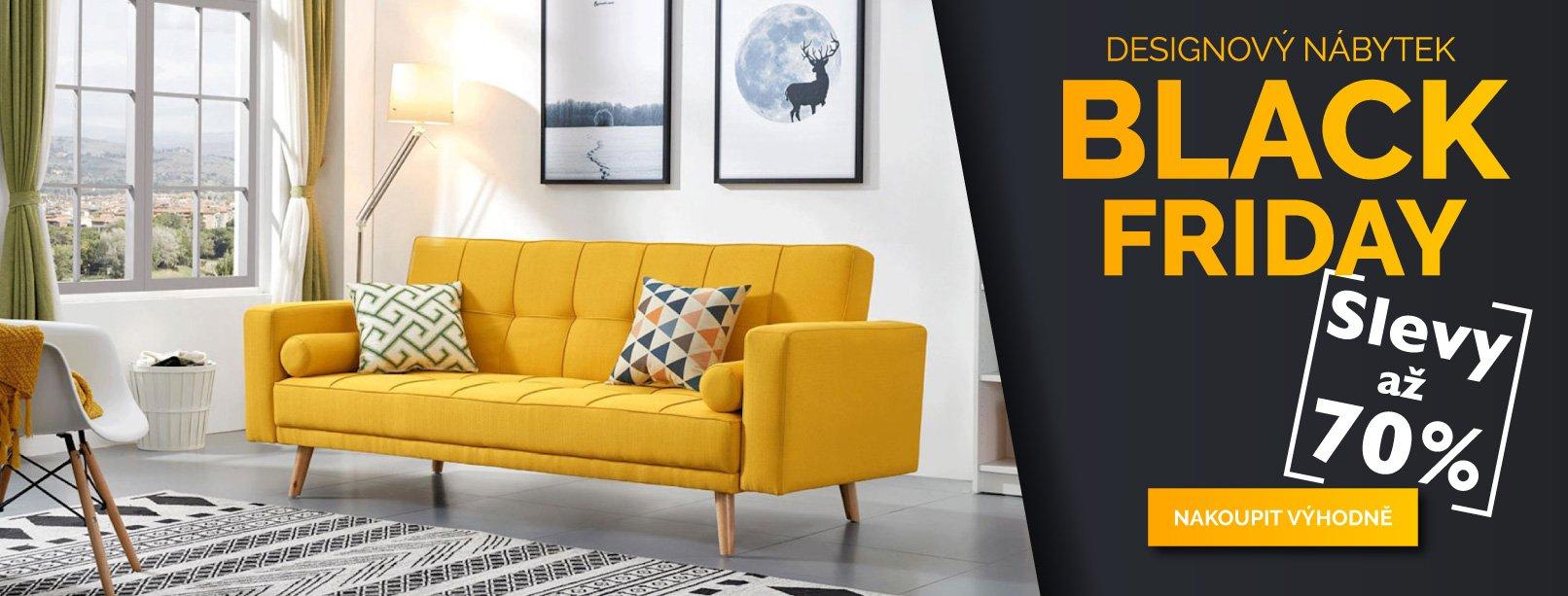 Black Friday - Designový nábytek se slevami až 70 %