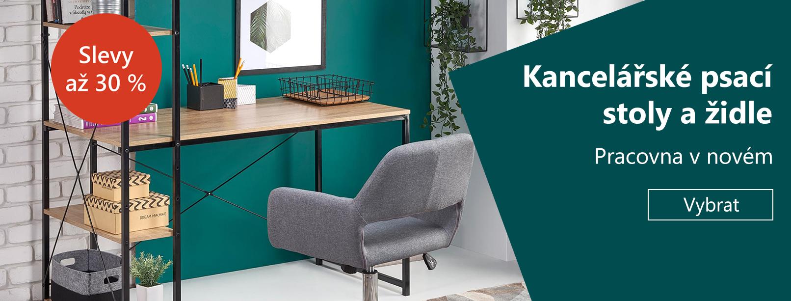 Pracovna v novém: Kancelářské židle a stoly se slevou až 30 %