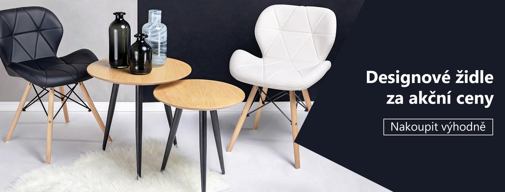 Designové židle za akční ceny