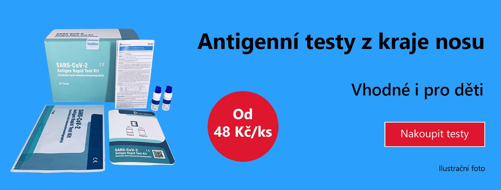 Antigenní test z kraje nosu