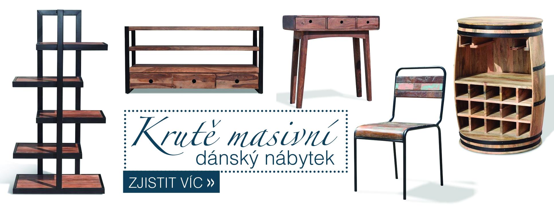 Masivní dánský nábytek