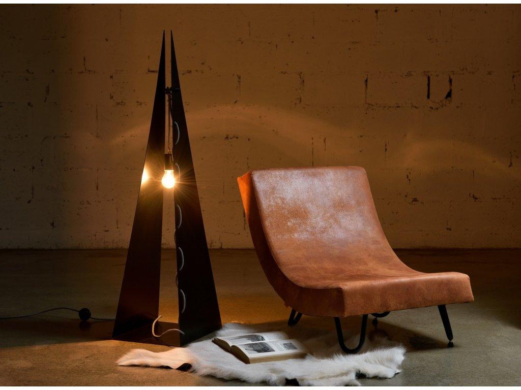 Stojací lampa ocelová ARROW BIG černá
