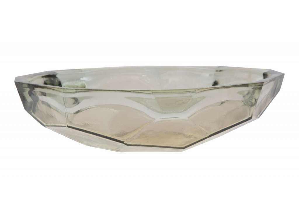 Dekorační mísa z recyklovaného skla STONE GREY 34X9 ze Španělska