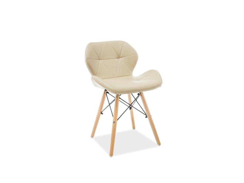 Židle MATIAS buk/cappuccino