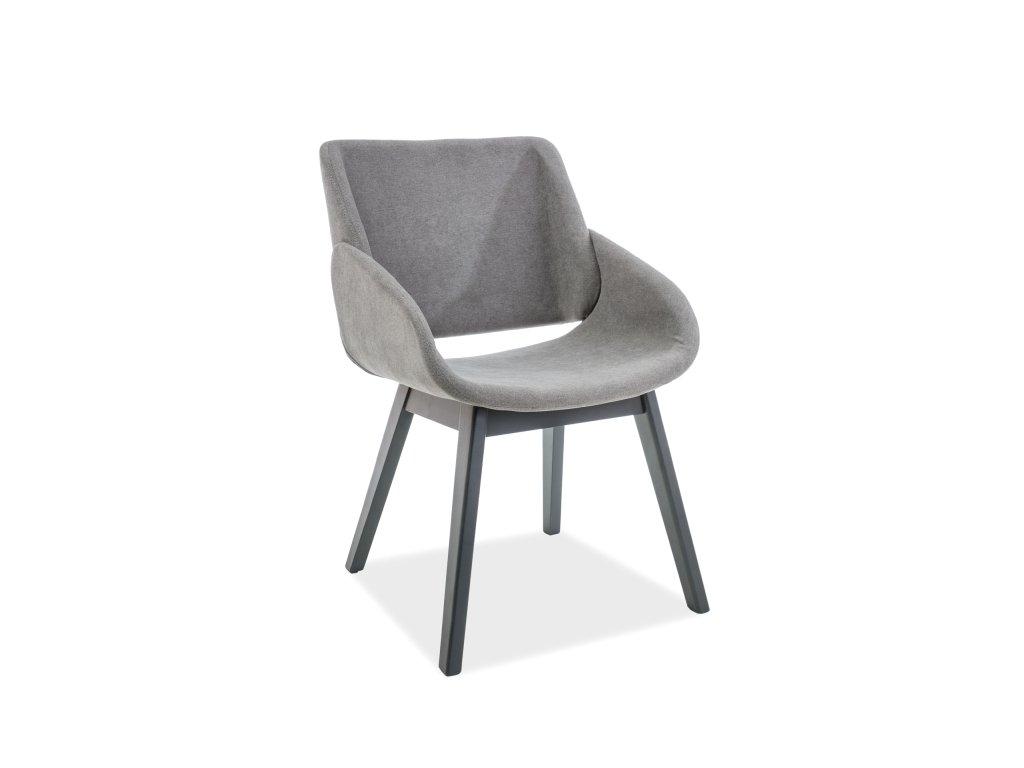Židle NEST antracit/šedá polstrování č.112