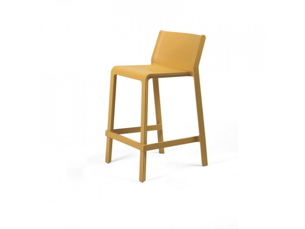 Barová židle Trill mini hořčicová