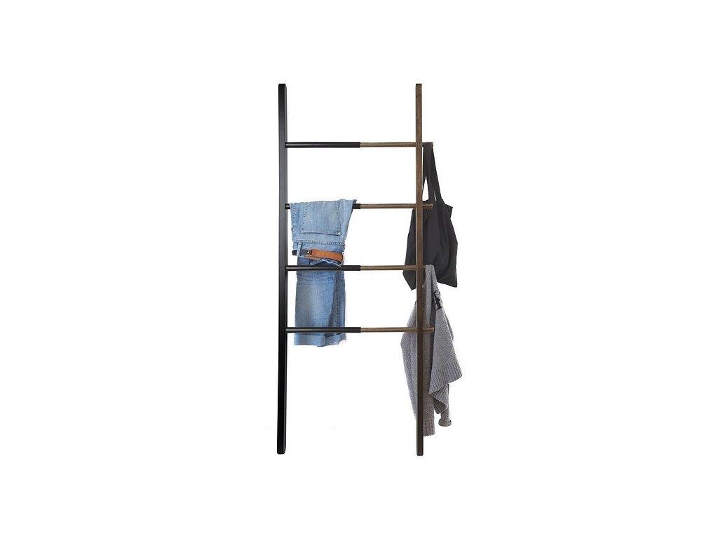 UMBRA věšák žebřík HUB černý - dřevo, kov