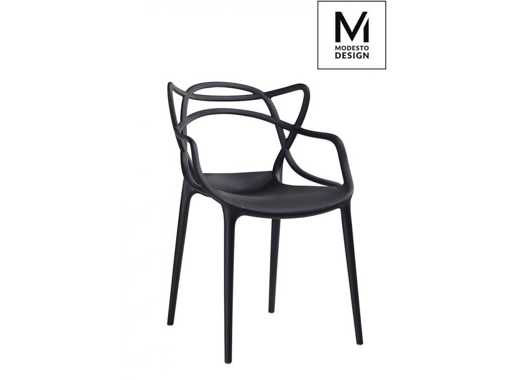 MODESTO židle HILO černá - polypropylén