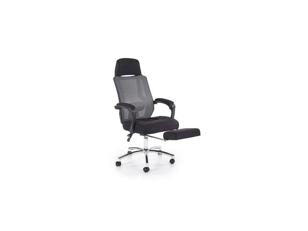 FREEMAN křeslo kancelářské s podnožkou černé / šedé