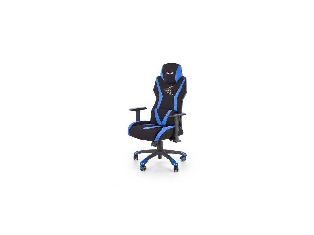 STIG křeslo kabinetní černé / modré