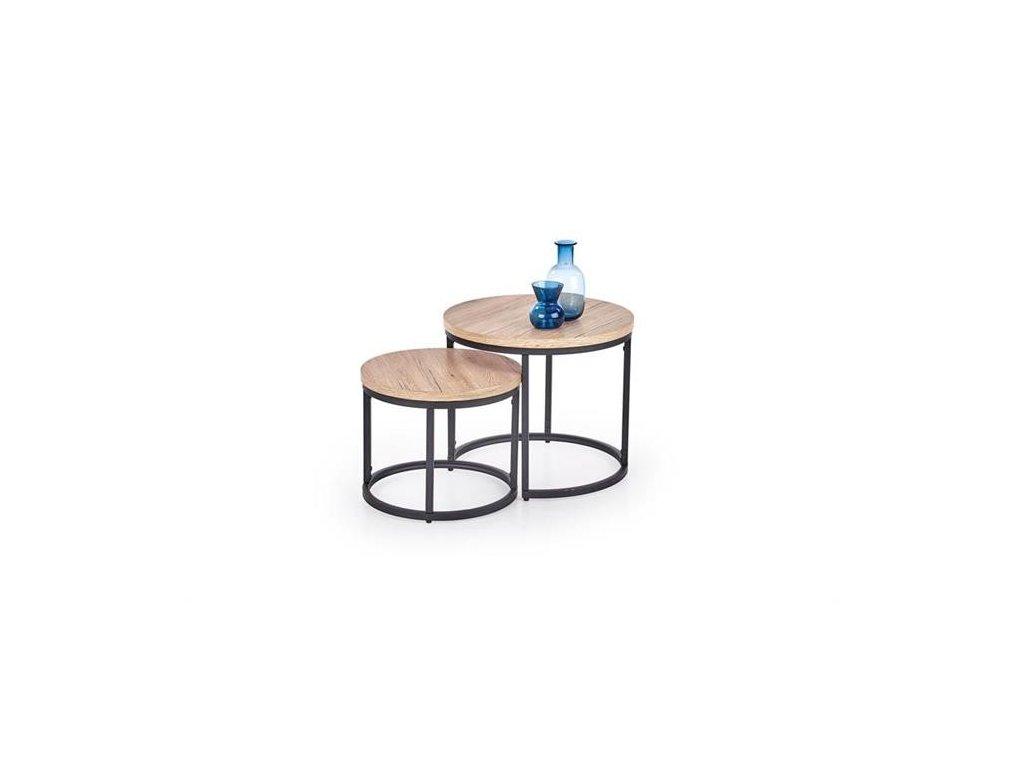 OREO sada dvou stolků dub San Remo / černé