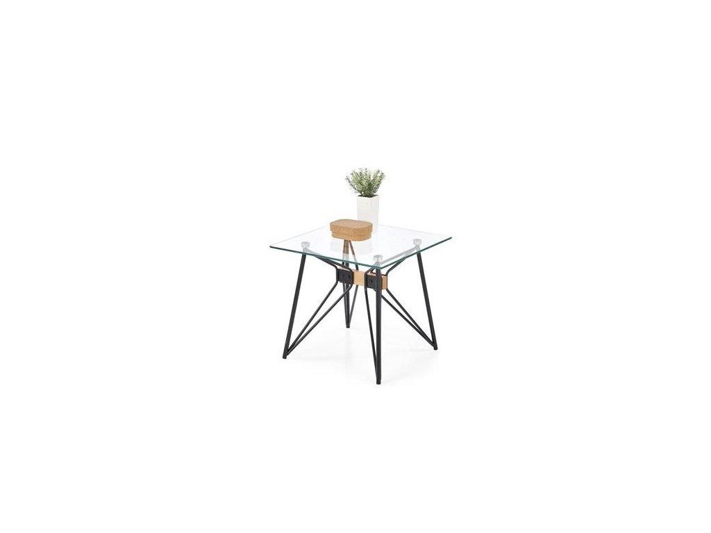 ALLEGRA čtvercový stolek černý / buk