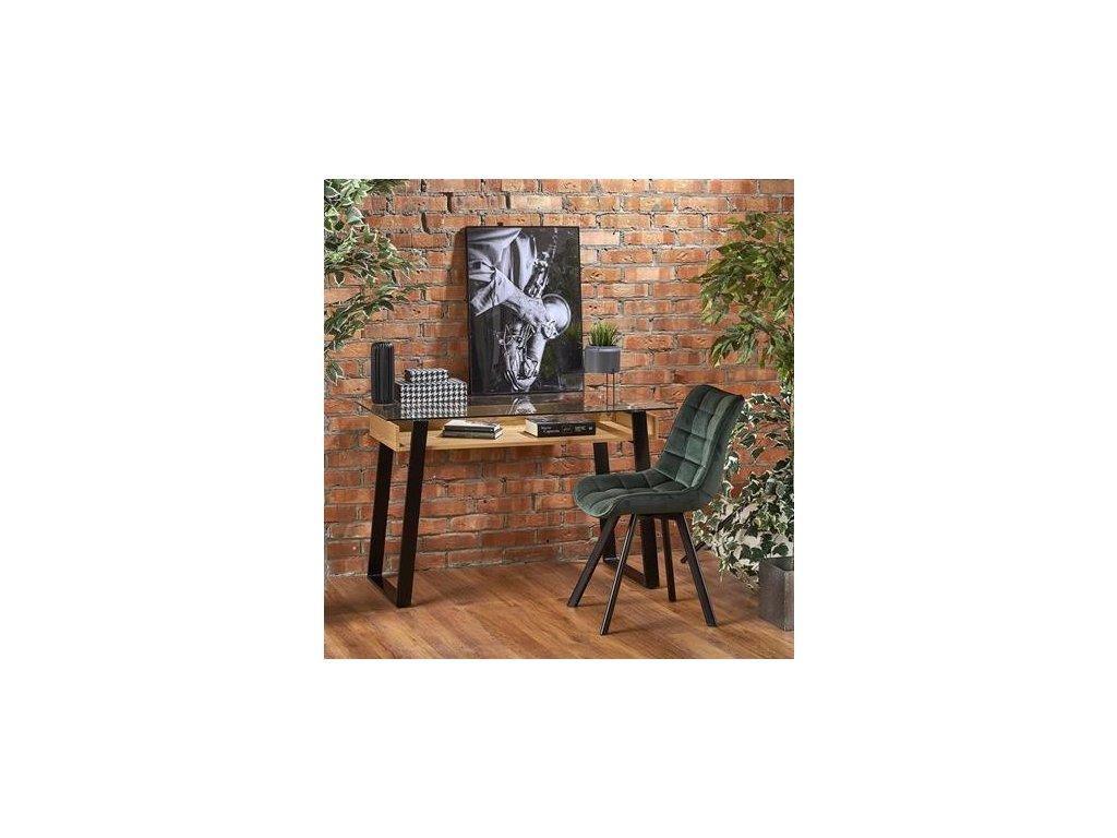 B36 psací stůl zlatý dub / černý
