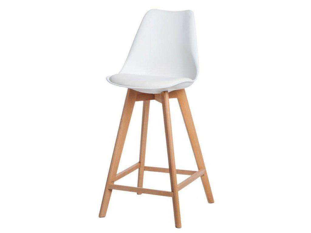 Barová židle Norden Wood vysoký PP bílý