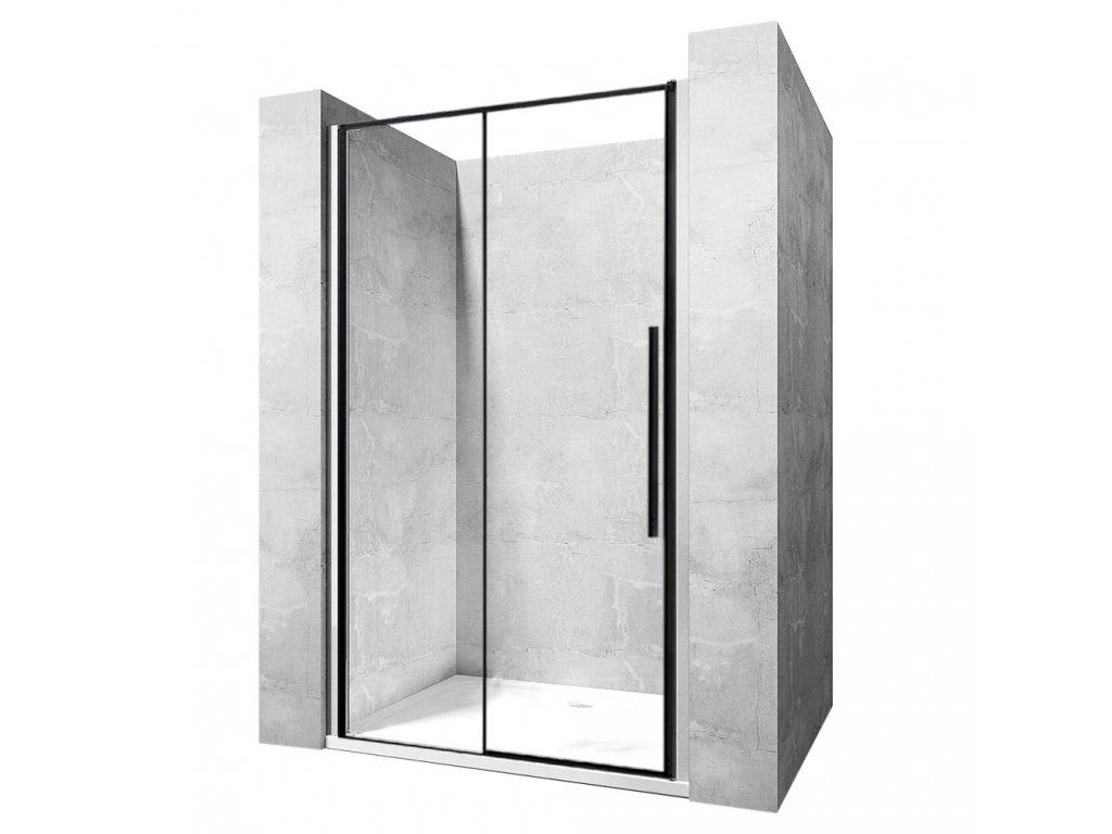 Dveře sprchové SOLAR černý mat 150
