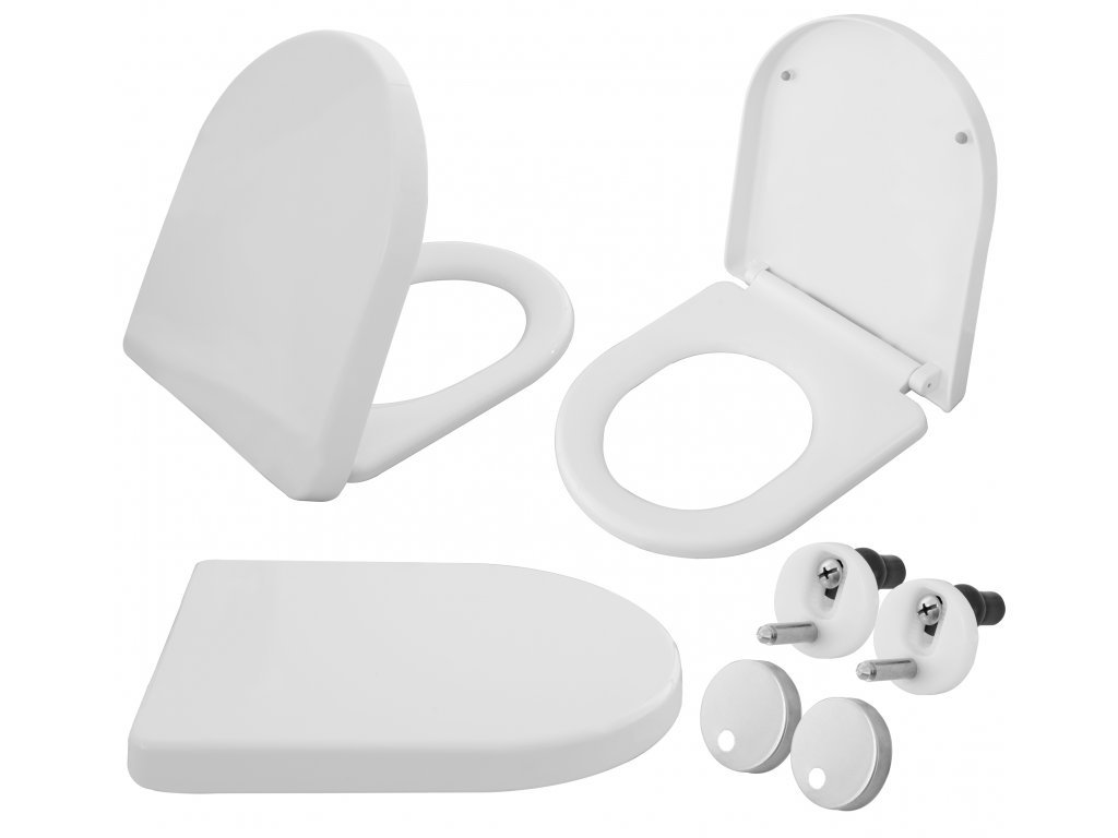 Sedátko WC pomalé zavírání CARLO ABS