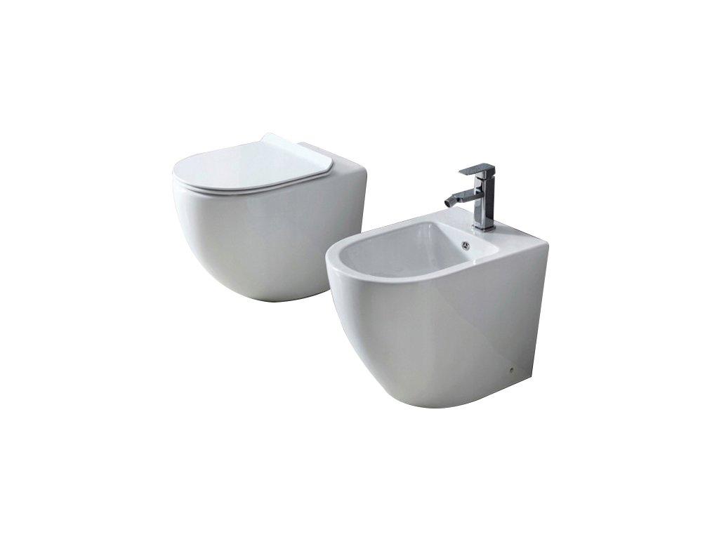 Sada mísa WC + bidet CARLO stojící