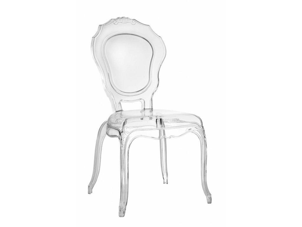 Židle Queen transparentní