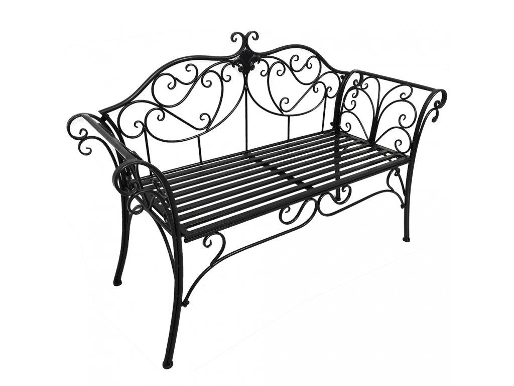 Zahradní lavička, černá, ETELIA