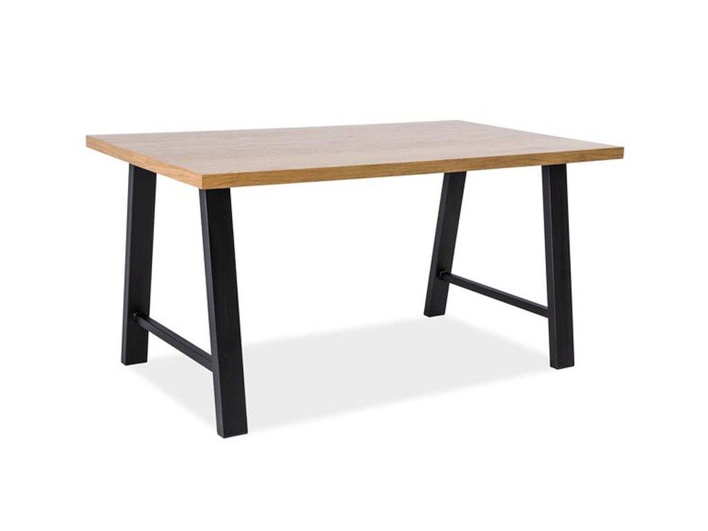 Stůl ABRAMO dub/černý 150x90