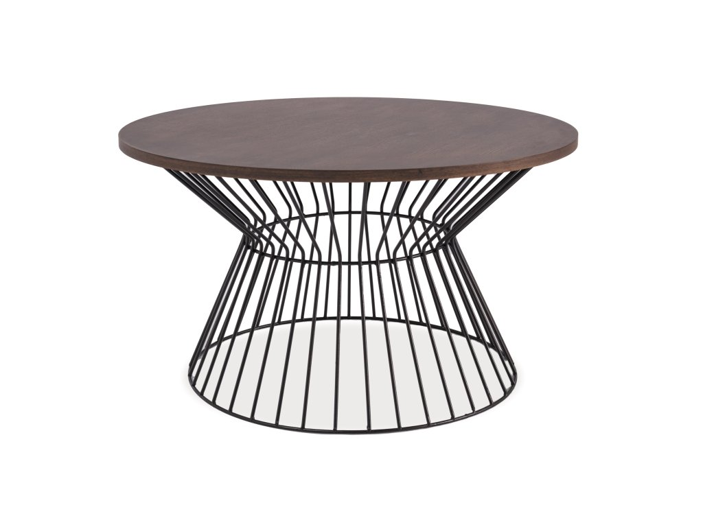 Konferenční stolek ALTA tmavý ořech/černá