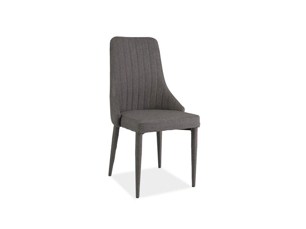 Židle AURA šedý materiál