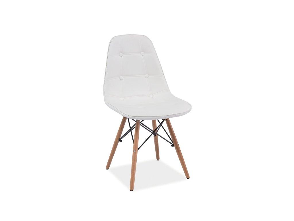 Židle AXEL buk/bílá