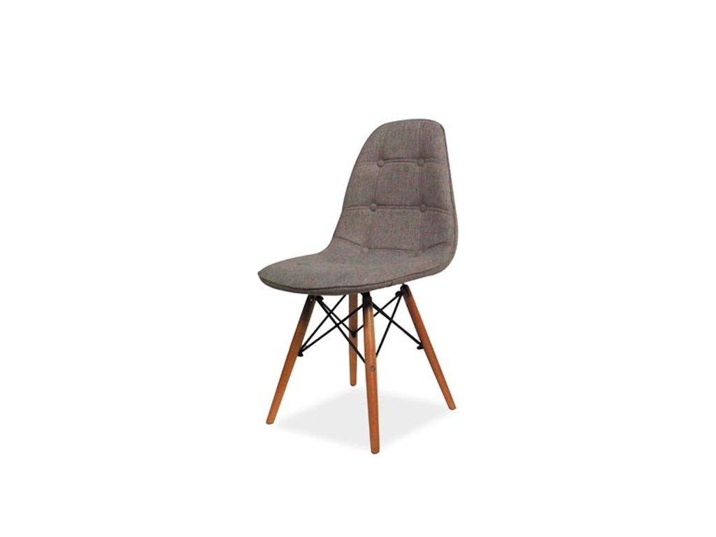 Židle AXEL II buk/šedá polstrování.34