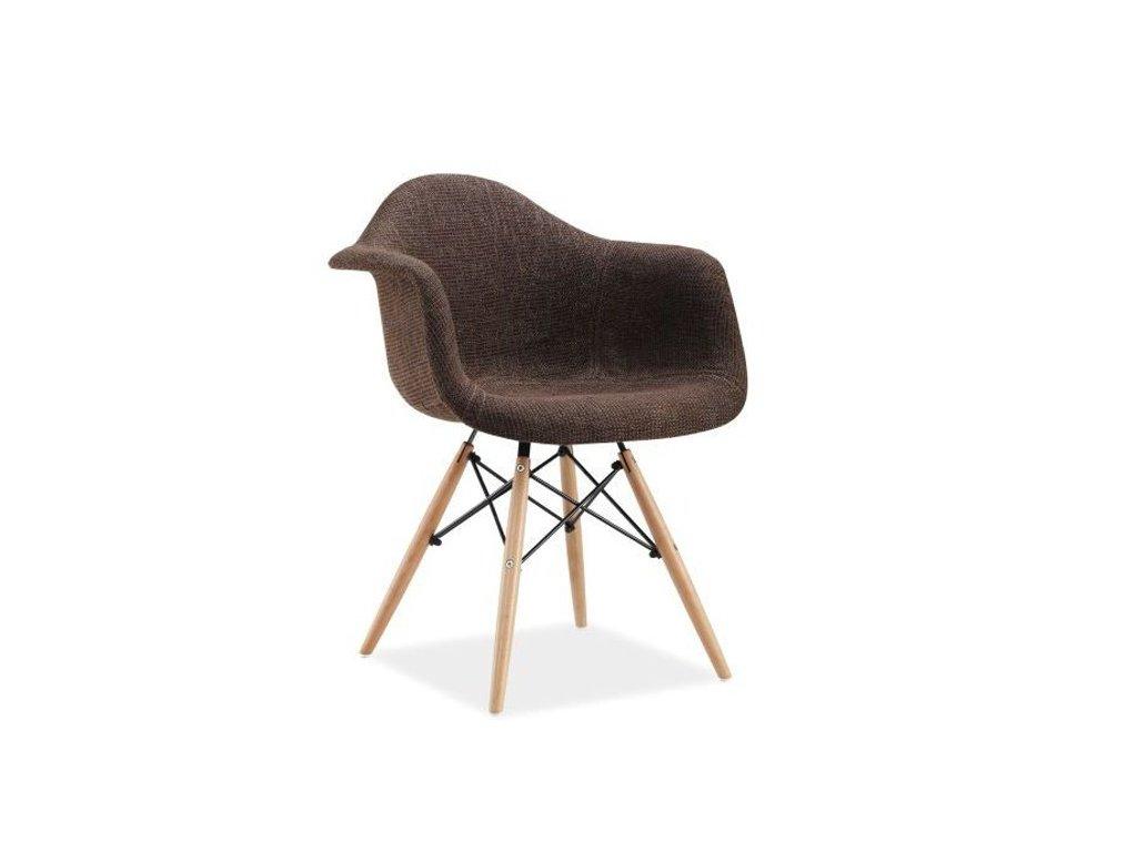 Židle BONO buk/hnědá polstrování.36
